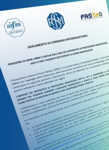 Posizione di AIFM, SIRM e FASTeR sull'uso dei dispositivi di protezione individuale anti-x per i pazienti sottoposti esami radiologici